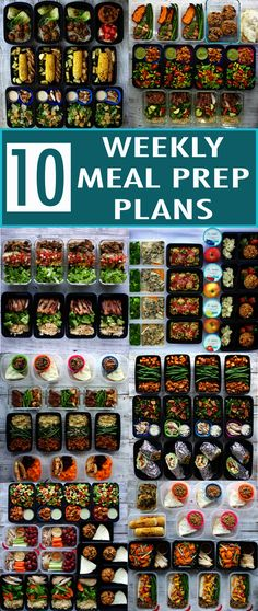 Meal prep plans: would need to substitute a few dairy and gluten items but not hard to do