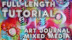 """Studio Time 1 - """"Spinning"""" - mixed media art journal full length tutorial"""