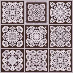Free Tea Bag Tiles   ArtbyJean - Images of Lace: Block of nine tea bag tiles