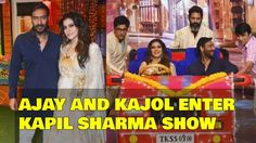 Ajay devgan and Kajol Enter the kapil Sharma show for Shivaay promotions