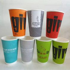 Customize Ripple Wall Paper Cups Xyapapercups