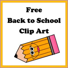 Free Back to School Clip Art
