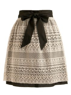 Lace Skirt. bow + lace. = yessss. some purple or burgundy tights underneath.