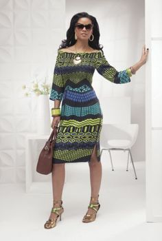 Cayenne Smocked African Design Dress from ASHRO