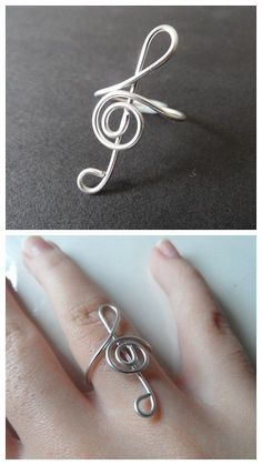 DIY Wire Clef Ring from My Virtuous Hands here. There isnt much of tutorial but there are a few photos to guide you. I translated this blog from Spanish to English using Chrome. I have posted pages of DIY wire jewelry here.: