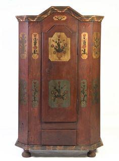 A Swedish Folk Art Painted Armoire