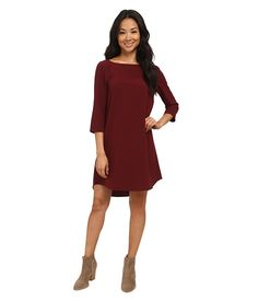 BB Dakota Devin Long Sleeve Crepe Shift Dress Black - Zappos.com Free Shipping BOTH Ways