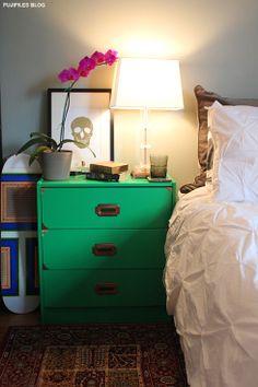 green dresser #decor #bedroom