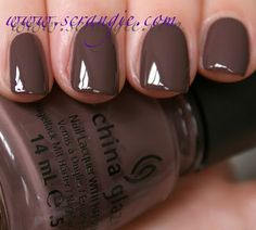 I am in love with this semi-chocolatey color! Foie Gras - China Glaze Capitol Colors Spring 2012 Collection
