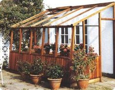 How to build a lean-to greenhouse.  one of these would be nice off the shed?