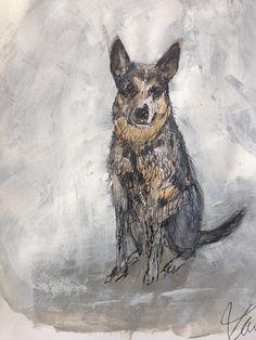 Really love this, from the Etsy shop tintabernacle. http://etsy.me/2CzfkfR #etsy #art #drawing #dog #custom #small #inkdrawing #blackwhite #sketch #originalart
