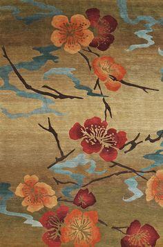 """""""Kimono Gold"""" Hand Knotted Tibetan Rug"""
