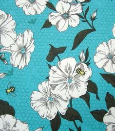 Snuggle Flannel Fabric Bee & Flower