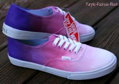 Add your personality to your look with ombre vans! Cute Vans, Cute Shoes, Me Too Shoes, Sock Shoes, Vans Shoes, Shoe Boots, Vans Sneakers, Flat Shoes, Dream Shoes