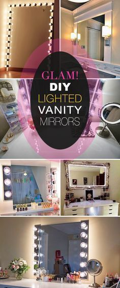 Glam! DIY Lighted Vanity Mirrors! • We decided to go glam, so we rounded up some DIY lighted vanity and dressing mirror projects for you!