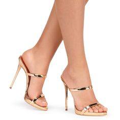 Darsey - Sandals - Gold Pink | Giuseppe Zanotti. Oh wow!! These are gorgeous, and the picture itself is sexy too. Very impressed!!..