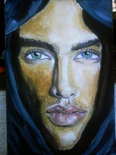 tuareg oil  on canvas artist KEKA