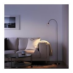 IKEA - TIVED, LED floor/read lamp, , You can easily direct the light where you want it because the lamp arm is adjustable.Slim design. Easy to place in small spaces.The LED light source consumes up to 85% less energy and lasts 20 times longer than incandescent bulbs.