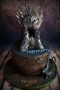 Game of Thrones cake - Cake by Carmen Cake Icing, Cupcake Cakes, Cupcakes, 30th Birthday Cakes For Men, Birthday Ideas, Christening Cake Girls, Game Of Thrones Cake, Movie Cakes, Single Tier Cake