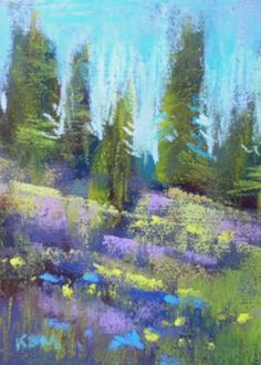 Pastel Landscapes   Miniature Pastel Landscapes, original painting by artist Karen ...