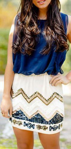 Chevron Sequined Dress ♥
