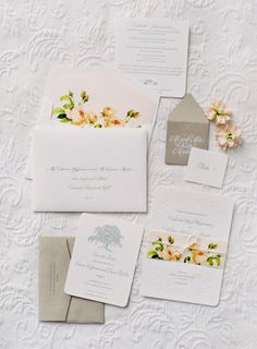 Flower invitations: http://www.stylemepretty.com/2014/03/12/al-fresco-wedding-in-santa-ynez/ | Photography: Jose Villa Photography - http://josevillaphoto.com/