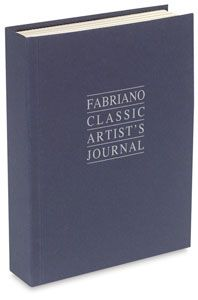 Fabriano Classic artist's journal with white and cream pages.