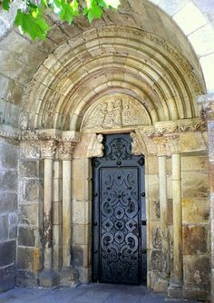 Opulent door in Galicia, Spain~