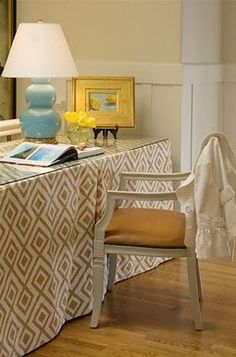 Skirted dressing table