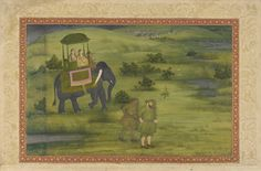 Two Mughal Princesses Hunting Gamer Birds from the St. Petersburg Album
