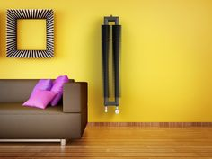 Retro Revolution HT: Retro radiator. Central heating radiator. In various paint finishes - 216 colours. Unique look made by the spiral, which fit closely to the steel or stainless steel tube.Vertical radiator. Delivery: 6 weeks.