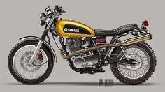 Yamaha SR400 Scrambler by Luca Bar Design