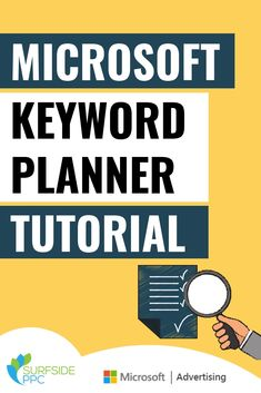 Discover how to use the Microsoft Keyword Planner, which is also referred to as the Microsoft Keyword Research Tool, Bing Ads Keyword Planner, and Bing Ads Keyword Research Tool. You can use the keyword planner to build your Microsoft Advertising Campaign. Microsoft Advertising, Pay Per Click Advertising, Digital Marketing Channels, Keyword Planner, Seo Keywords, Learn To Run, Google Ads, Advertising Campaign, Inbound Marketing