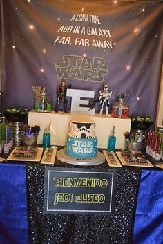 Star Wars birthday party dessert table! See more party ideas at CatchMyParty.com!