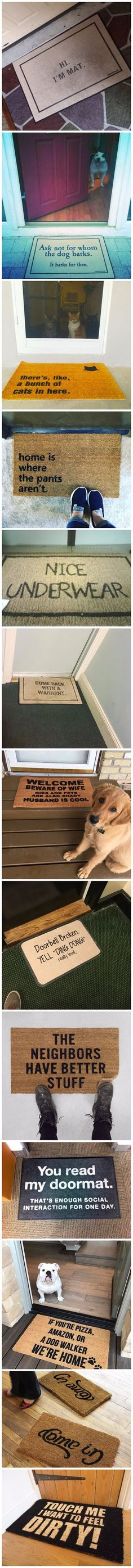 Funny doormat collection