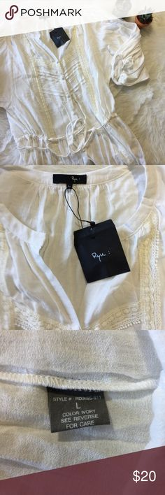 Ryu White Button Up Dress This dress is brand new! Never worn! It's loose fitting. Goes to right above the knee. Smoke and pet free home. No trades. No flaws like stains or holes. Ryu Dresses Midi