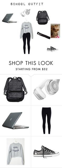 School outfit 1 by fangirlinc on Polyvore featuring NIKE, Converse, Victoria's Secret, Speck and Beats by Dr. Dre