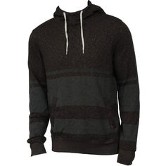 Hurley Mens Sweatshirt Retreat Stripe Pull Heather Black