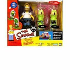Simpsons - Interactive Environment (Playset) - Alien Spaceship - Treehouse of Horror 2 Toys r Us exclusive w/3 exclusive figures (Alien Ship Homer, Kang and Kodos) by Playmates Toys Available From West Point Toy & Hobby on Amazon #HomerSimpson #TheSimpsons #toys