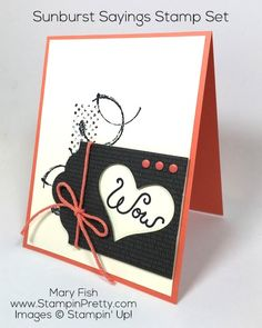 Stampin Pretty, Stampin Up, Pretty Cards, Cute Cards, Mary Fish, Thank You Card Design, Invitation, Scrapbooking, Card Making Inspiration