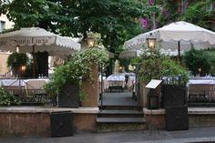 Rome food: Santa Lucia... a must. Go late, call ahead. Order the lobster linguine / Via di Tor Sanguigna 2, tel 06 688 02427