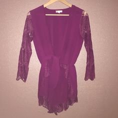 Wine color Nasty gal Romper! Worn a few times! Purchased from nasty gal! Nasty Gal Pants Jumpsuits & Rompers