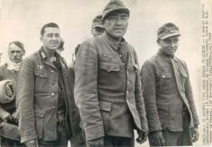 1944- Korean soldiers, pressed into service with the German Army, after their capture on D-Day.