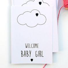 Ansichtkaart uit de webshop: Welcome baby girl.