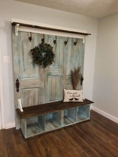 Old doors repurposed into a hall tree - Old doors repurposed into a hall tree B. Old doors repurposed into a hall tree - Old doors repurposed into a hall tree Best Picture For shutters repurposed flag For Your Taste Yo - repurposed Door Hall Trees, Hall Tree Bench, Door Tree, Old Door Decor, Entryway Decor, Old Wood Doors, Wooden Doors, Armoire Shabby Chic, Old Door Projects