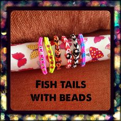 Fishtails with beads