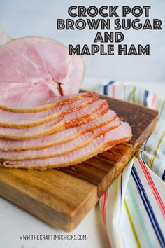 Make sure you save this delicious and easy Crock Pot Brown Sugar and Maple Ham. This recipe will be one that you come back to time and time again. dinner for two people Crock Pot Brown Sugar and Maple Ham Healthy Meats, Healthy Meat Recipes, Pork Recipes, Slow Cooker Recipes, Crockpot Recipes, Savoury Recipes, Recipies, Easter Dinner, Easter Ham