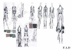 Fashion Sketchbook - fashion sketches; creative fashion design process; fashion portfolio // Lily Paula Morris