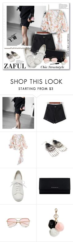 """""""Zaful Fashion80"""" by sneky ❤ liked on Polyvore featuring Santoni, Givenchy, GUESS, Bobbi Brown Cosmetics, polyvoreeditorial and zaful"""