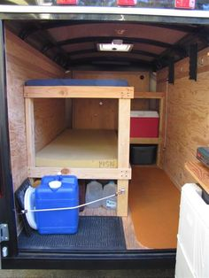 It's a cargo trailer designed for camping with bunkbeds inside. No sink, kitchen or bathroom. Just a place to sleep. I'm liking it! 6x12 Enclosed Trailer, Enclosed Trailer Camper Conversion, Enclosed Cargo Trailers, Small Camper Trailers, Cargo Trailer Conversion, Tiny Camper, Small Campers, Camping Trailers, Converted Cargo Trailer